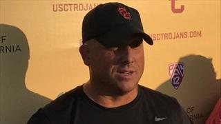 Clay Helton: USC's Wednesday Cal Practice